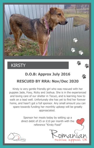 Kirsty Food Sponsor Card